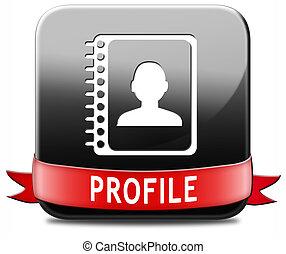 profil, bouton