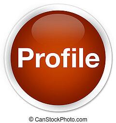 profil, brauner, taste, prämie, runder