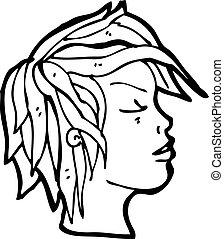 profil, dessin animé
