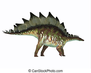 profil, dinosaurie, stegosaurus, sida