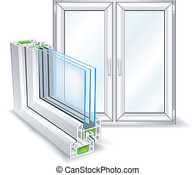 profil, fönster