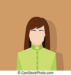 profil, femme, avatar, femme, portrait, icône