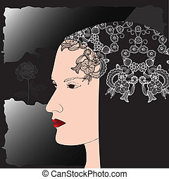 profil, femme