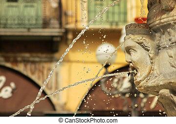 profil, fontaine