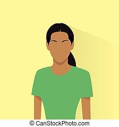 profil, frau, amerikanische , avatar, weiblicher afrikaner, ikone