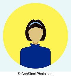 profil, frauengesichter, avatar, weibliche , runder , ikone
