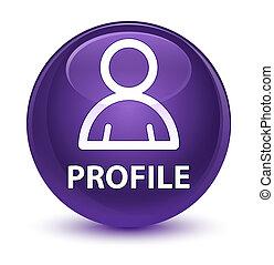 profil, glasig, lila, taste, icon), (member, runder