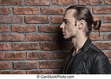 profil, homme