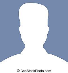 profil, illustations, vektor, avatar, bild, mann