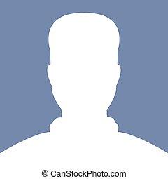 profil, illustations, wektor, avatar, obraz, samiec