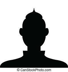 profil, korzystać, czarnoskóry, avatar, tło, biały samczyk, socia, ikona