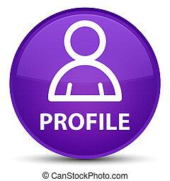 profil, lila, taste, runder , (member, icon), besondere