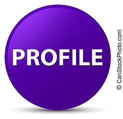 profil, lila, taste, runder
