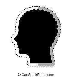 profil, mâle, silhouette, icône