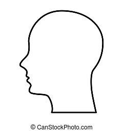 profil, mann, silhouette, ikone
