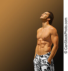 profil, modèle, fitness