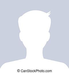 profil, obraz, korzystać, website., avatar, vector., towarzyski, samiec