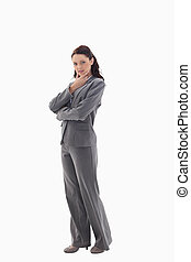 profil, od, kobieta interesu, z, przedimek określony przed rzeczownikami, ręka dalejże, jej, podbródek