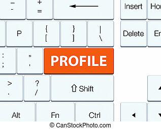 profil, orange, taste, tastatur