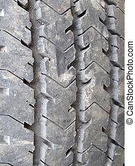 profil, pneus, projection, pile, voiture