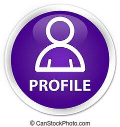 profil, prämie, lila, taste, icon), (member, runder