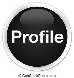 profil, prämie, taste, schwarz, runder
