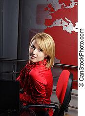 profil, présentateur, tã©lã©viseur, séduisant