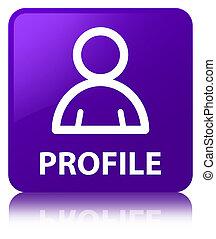 profil, quadrat, lila, taste, (member, icon)
