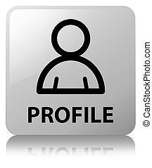 profil, quadrat, taste, (member, weißes, icon)