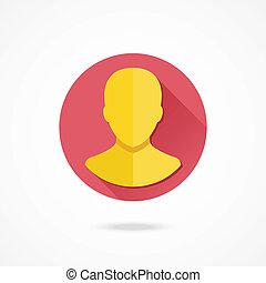 profil, rachunek, wektor, avatar, ikona