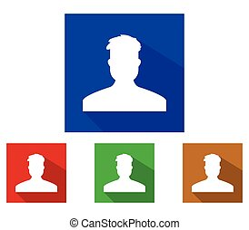 profil, satz, mann