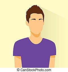 profil, silhouette, figure, personne, avatar, portrait, mâle, désinvolte, icône