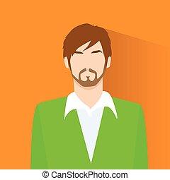 profil, silhouette, gesicht, person, avatar, porträt, mann,...