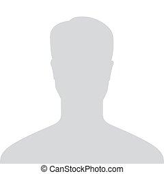 profil, szary, obraz, default, odizolowany, ilustracja, ...