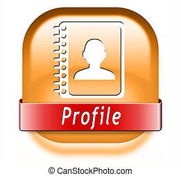 profil, taste