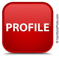 profil, taste, quadrat, besondere, rotes