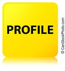 profil, taste, quadrat, gelber