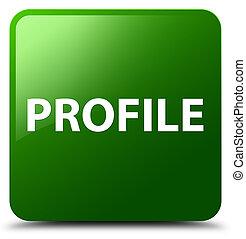 profil, taste, quadrat, grün