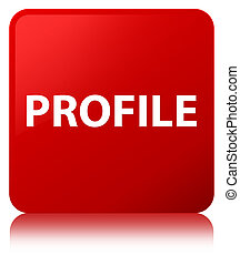 profil, taste, quadrat, rotes