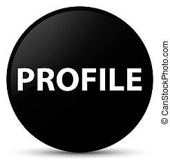 profil, taste, schwarz, runder