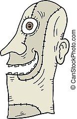 profil, twarz