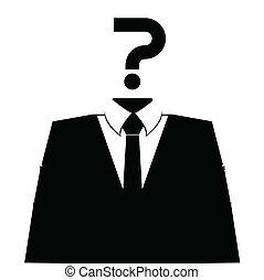 profil, vector., arrière-plan., avatar, anonyme, blanc, ...