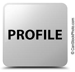profil, weißes, quadrat, taste