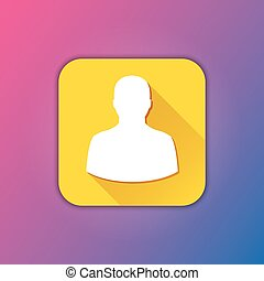 profil, wektor, ikona