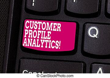 profil, zákazník, pojem, vzkaz, povolání, dálkový ovladač, text, stvořit, analytics., analýza, dílo, idea., intention, naléhavý, klapka, klaviatura, poselství, počítač, nebo, obchod, plán