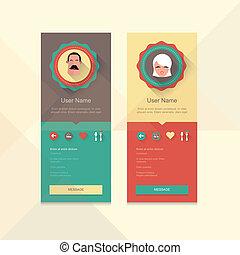 Profile badge - User profile information badge dating