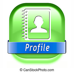 profile button - Profile personal account information and...