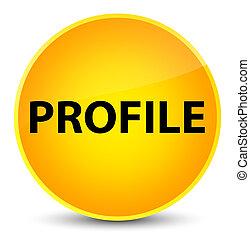 Profile elegant yellow round button