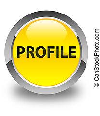 Profile glossy yellow round button