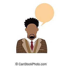 Profile Icon African American Male Avatar Man Beard Portrait...